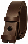 25mm Chocolate Snap Fit Leather Belt